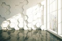 Honeycomb dark parquet